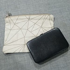 Canvas makeup bag & card case